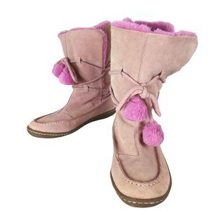 Steve Madden Pink Suede Popp Boots-N656
